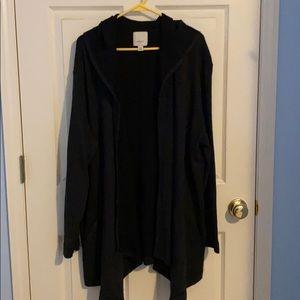 Sejour Hooded Drape Sweater